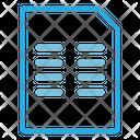 Two Coloum Paragraph Paper Icon