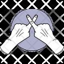 Two Cross Finger Finger Fingers Icon