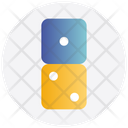 Two Dices Casino Dices Cubes Icon