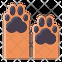 Two Dog Paws Icon