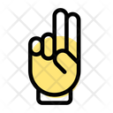 Two Finger Victory Hand Sign Icon