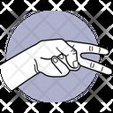 Two Finger Finger Fingers Icon