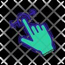 Two Finger Horizontal Swipe Icon