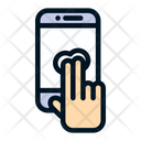 Two Finger Tap Double Tap Fingers Icon