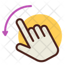 Two Fingers Rotate Left Hand Gesture Icon