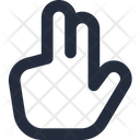 Gesture Two Fingers Up Icon