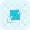 Two Hand Holding Paper Give Paper Paper Icon