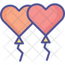 Two Heart Balloons Heart Balloon Love Icon