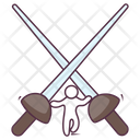 Two Kendo Swords Icon