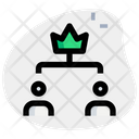 Two Leader Hierarchy Icon