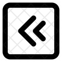 Two Left Arrow Direction Arrow Direction Icon