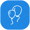 Two Party Balloons Icon