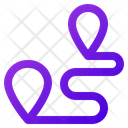 Two Place Direction Icon
