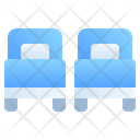 Two Separate Beds Icon