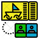 Two Ship Ticket Icon