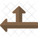 Two Side Arrow Road Symbol Gps Mark Icon