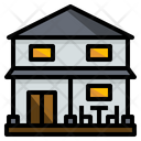 Two-story house Icon
