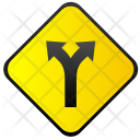 Dangerous Place Traffic Icon