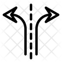 Arrows Different Split Icon