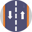 Two Way Road Ways Icon