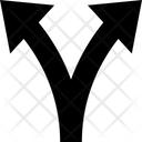 Arrow Small Two Way Two Roads Icon