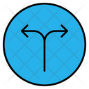 Two Way Two Road Split Icon