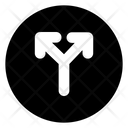 Cross Symbol Direction Icon