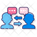 Two Way Communication Icon