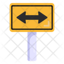 Two Way Directions Road Post Traffic Board Icon