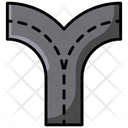 Y Intersection Two Way Junction 2 Way Intersection Icon