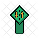Two Way Road Board Icon