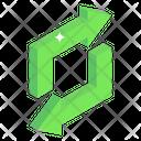 Two Way Square Arrows Icon