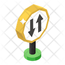 Two Way Traffic Icon