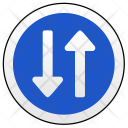 Ways Drive Oncoming Icon