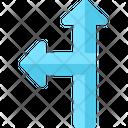 Two Ways Arrows Pointing Arrows Symbols Icon