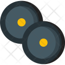 Two Weightlifting Tools Icon