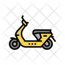 Gas Moped Color Icon
