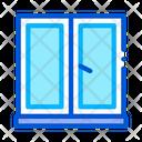 Two Half Window Pvc Icon