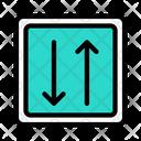 Twoway Arrow Traffic Icon