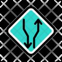 Twoway Road Traffic Icon