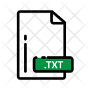 Txt Document Extension Icon