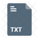 Txt Format File Icon