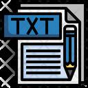 Txt File File Folder Icon