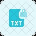 Txt File Lock Txt Lock File Lock Icon