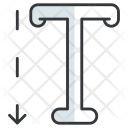 Vertical Type Design Icon