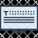 Type Desktop Monitor Icon