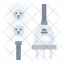 Type K Electrical Port Connector Cable Icon