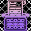 Type Writer Printer Cinema Icon