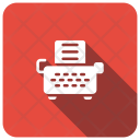 Typewrite Keyboard Text Icon