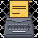 Typewriter Writer Test Icon